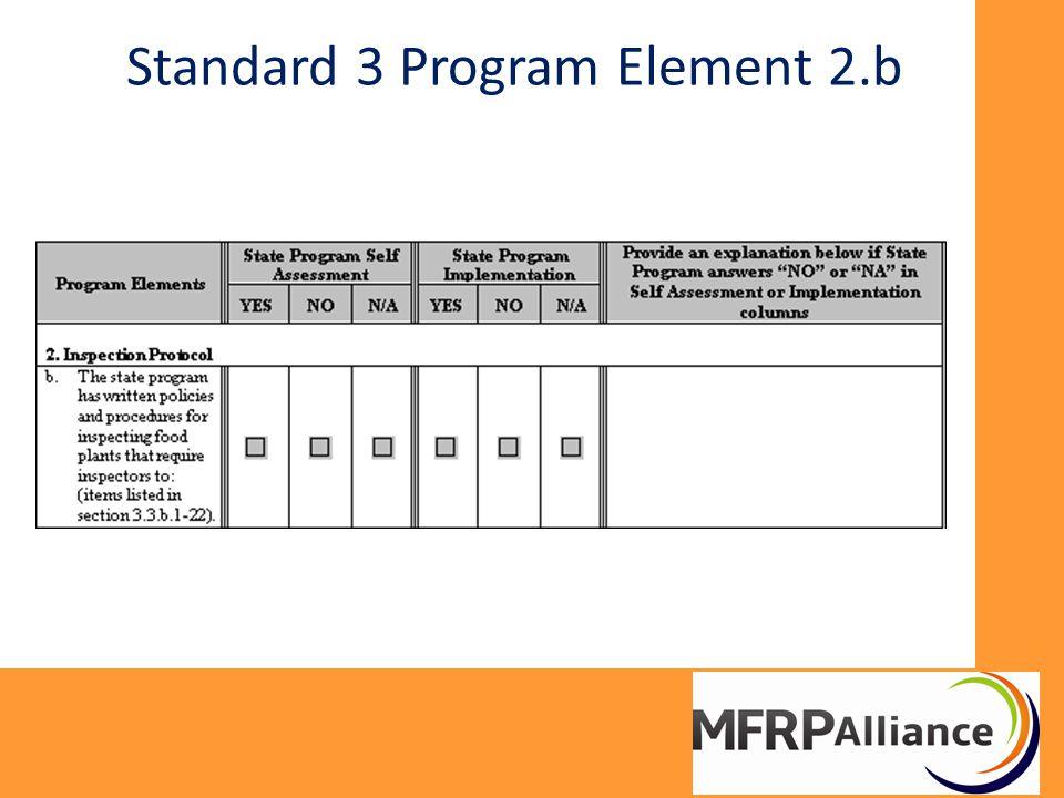 Standard 3 Program Element 2.b