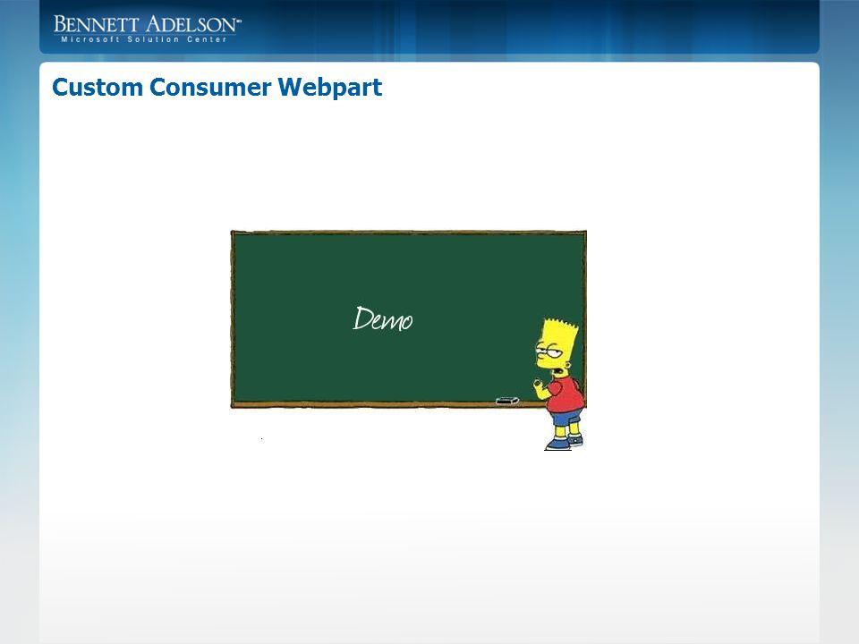 Custom Consumer Webpart