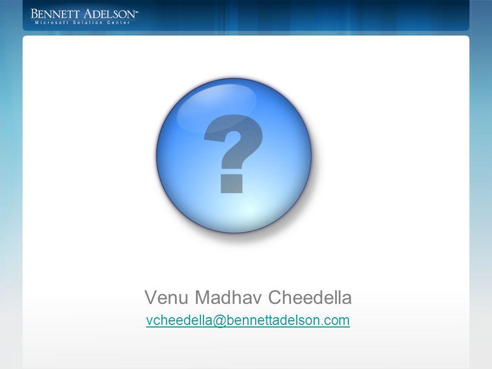 Venu Madhav Cheedella vcheedella@bennettadelson.com