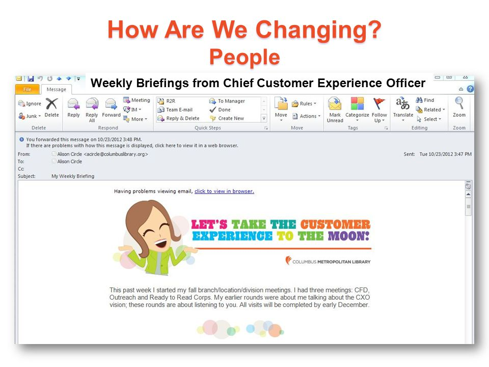 16 Weekly Briefings from Chief Customer Experience Officer