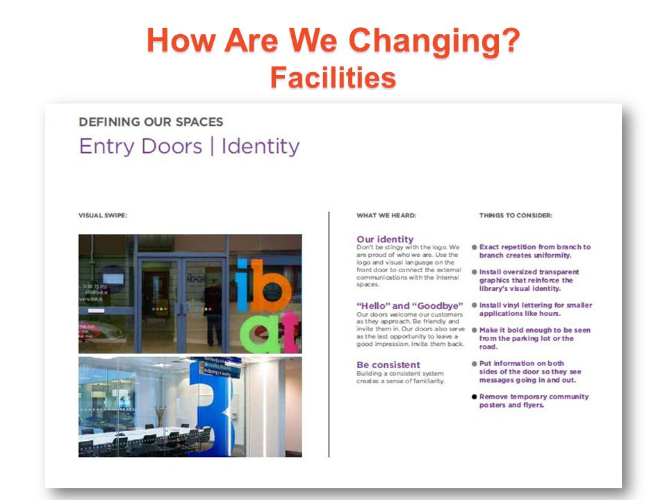 How Are We Changing? Facilities 19