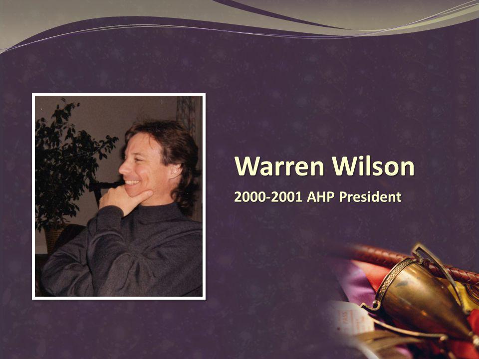 Warren Wilson 2000-2001 AHP President