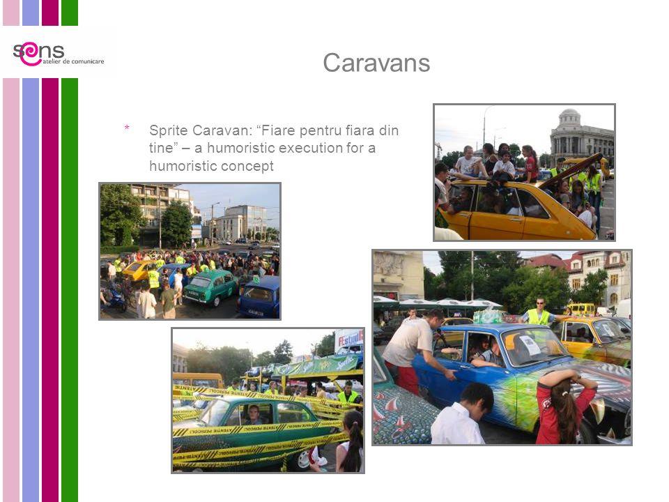 Caravans  Sprite Caravan: Fiare pentru fiara din tine – a humoristic execution for a humoristic concept