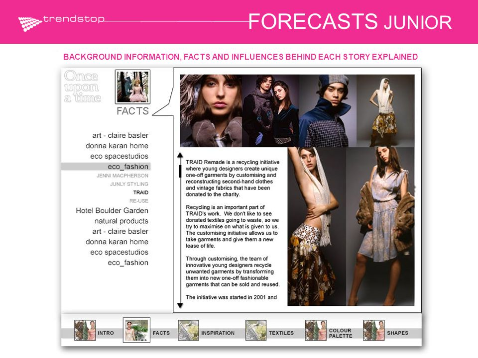 FORECASTS JUNIOR BACKGROUND INFORMATION, FACTS AND INFLUENCES BEHIND EACH STORY EXPLAINED