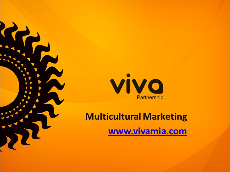 Multicultural Marketing www.vivamia.com