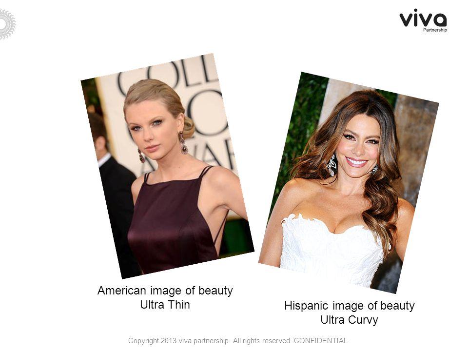 American image of beauty Ultra Thin Hispanic image of beauty Ultra Curvy Copyright 2013 viva partnership.