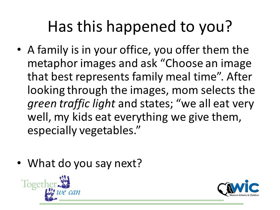 Stories from Arizona WIC I have experienced this appointment.