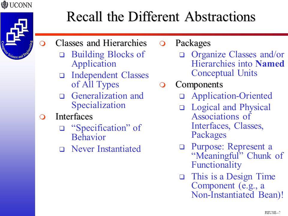REUSE--8 Components vs.