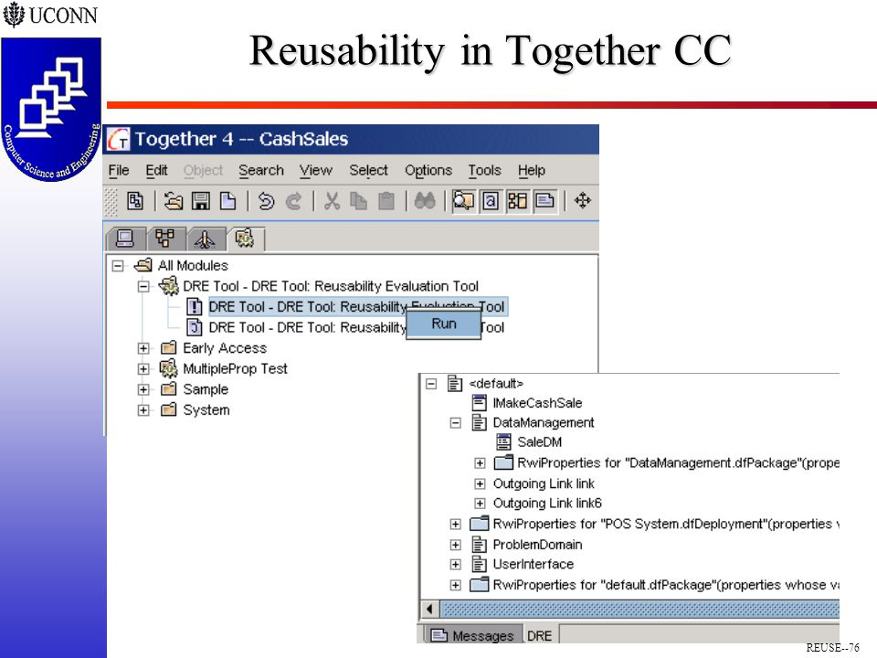 REUSE--76 Reusability in Together CC