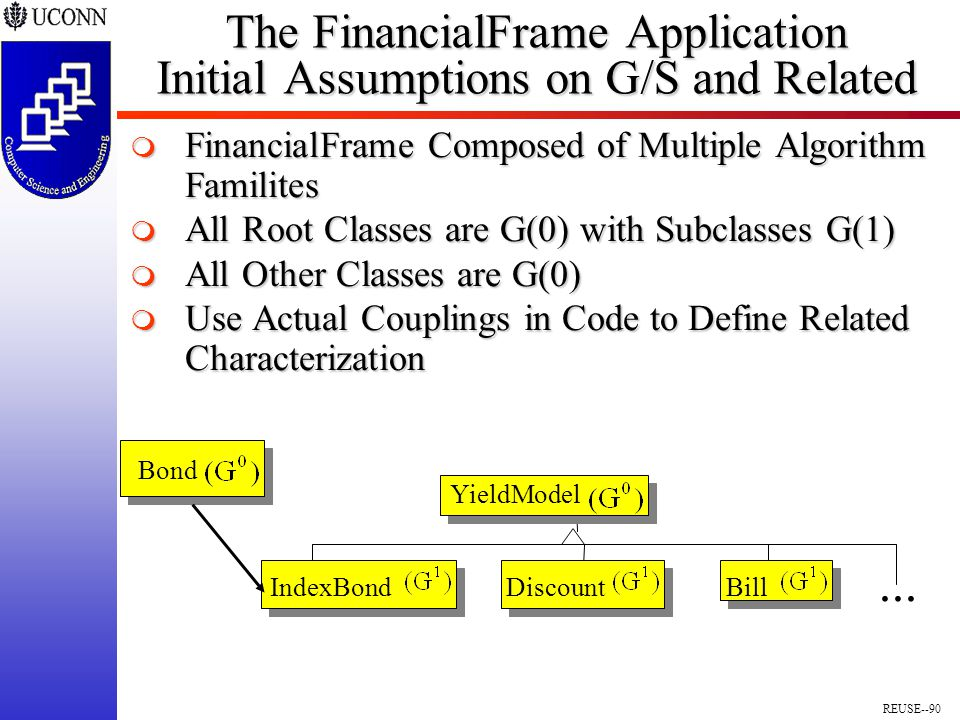 REUSE--90 The FinancialFrame Application Initial Assumptions on G/S and Related...