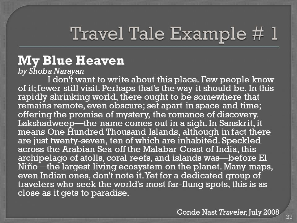 My Blue Heaven by Shoba Narayan I don t want to write about this place.