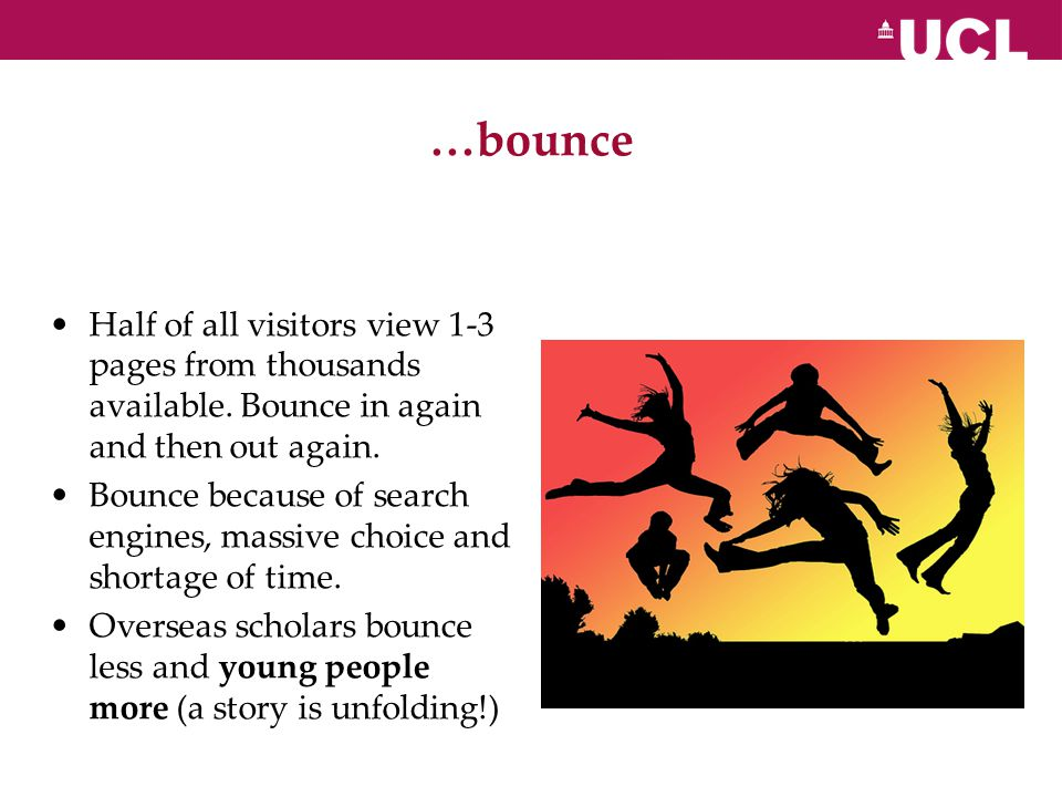 …bounce Half of all visitors view 1-3 pages from thousands available.