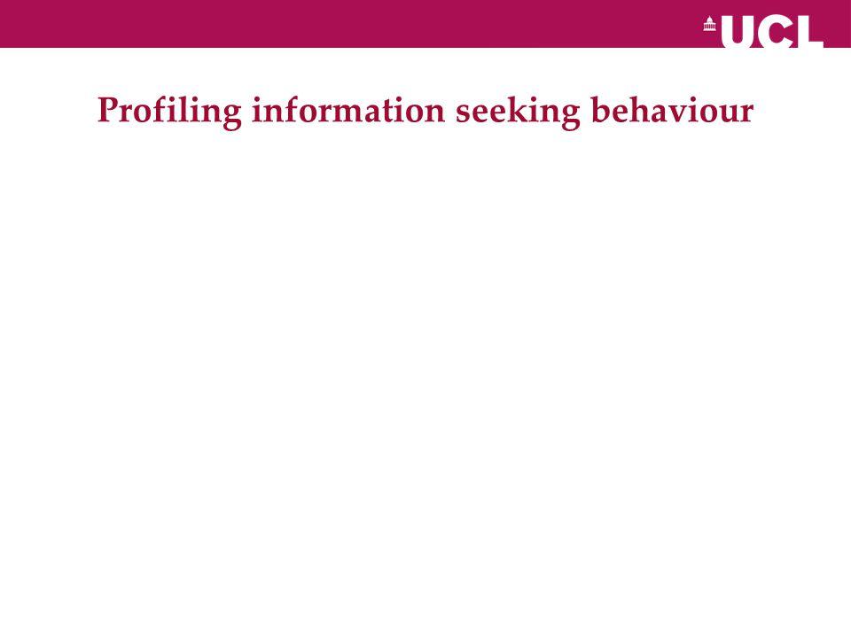 Profiling information seeking behaviour