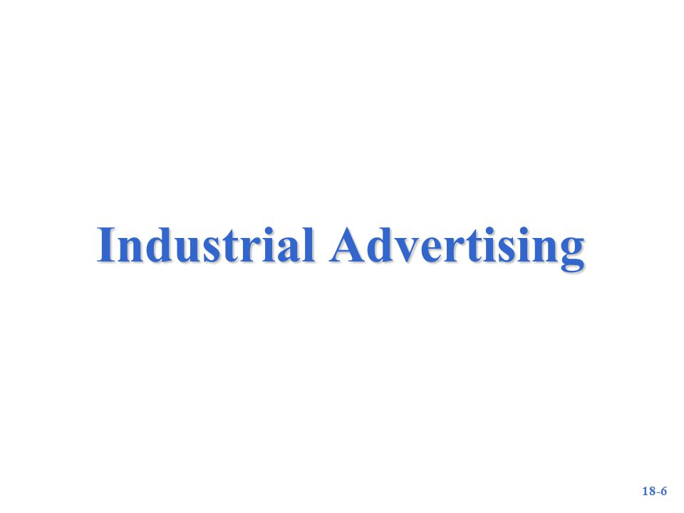 18-6 Industrial Advertising
