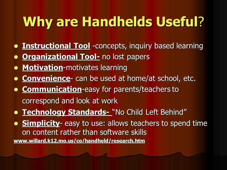 What is a Handheld.