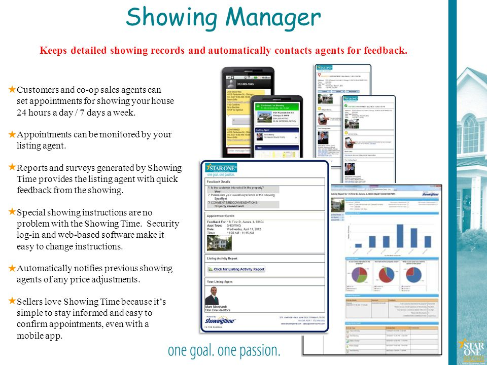 9 Showing Manager Keeps detailed showing records and automatically contacts agents for feedback. Customers and co-op sales agents can set appointments