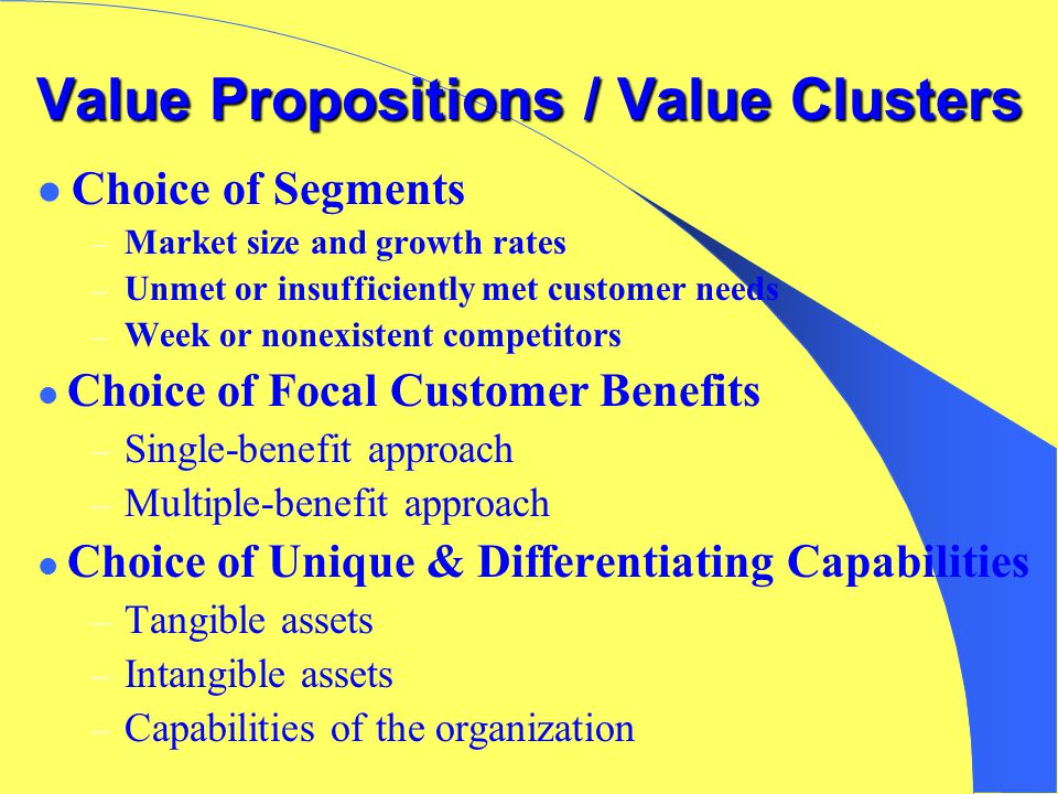 Do Firms Compete on value Propositions or Value Clusters?