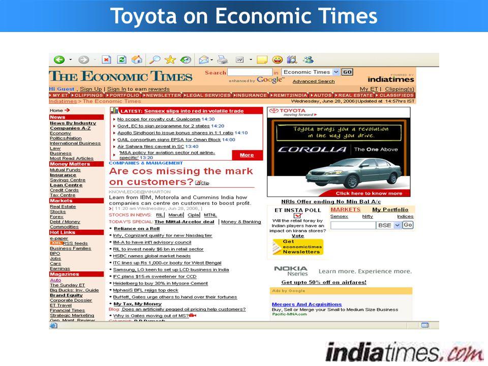 Toyota on Economic Times