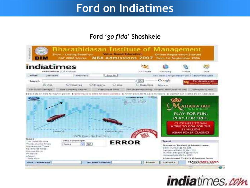 Ford on Indiatimes Ford 'go fida' Shoshkele