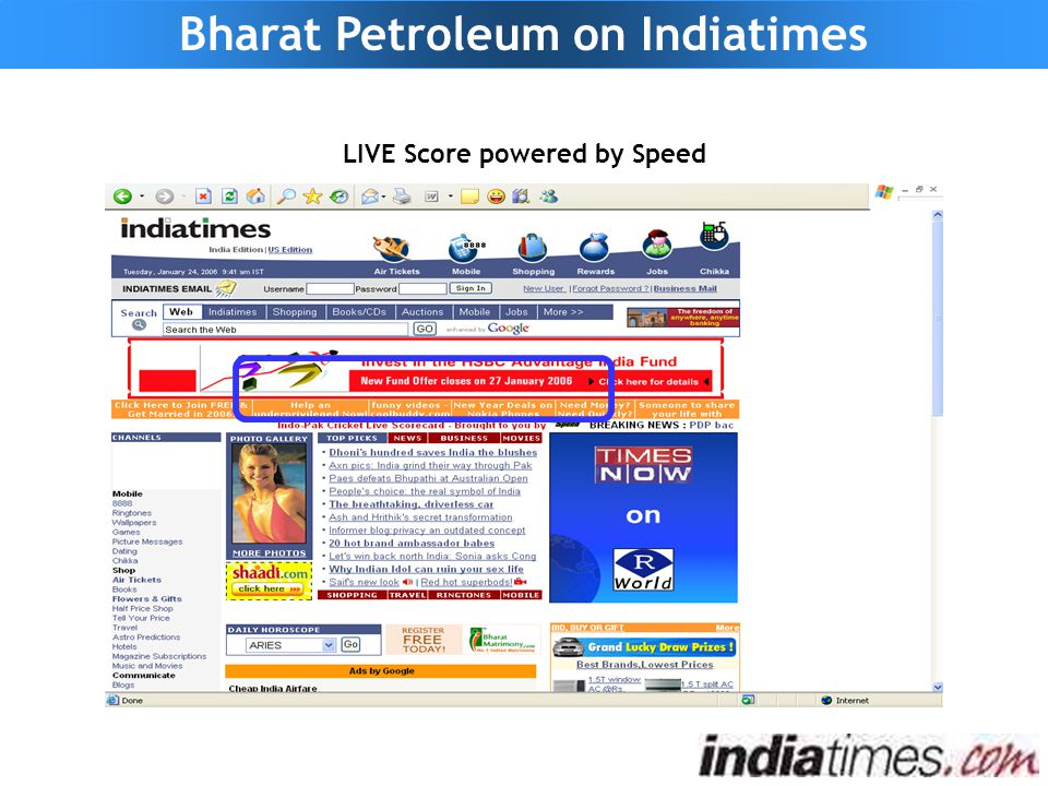 LIVE Score powered by Speed Bharat Petroleum on Indiatimes