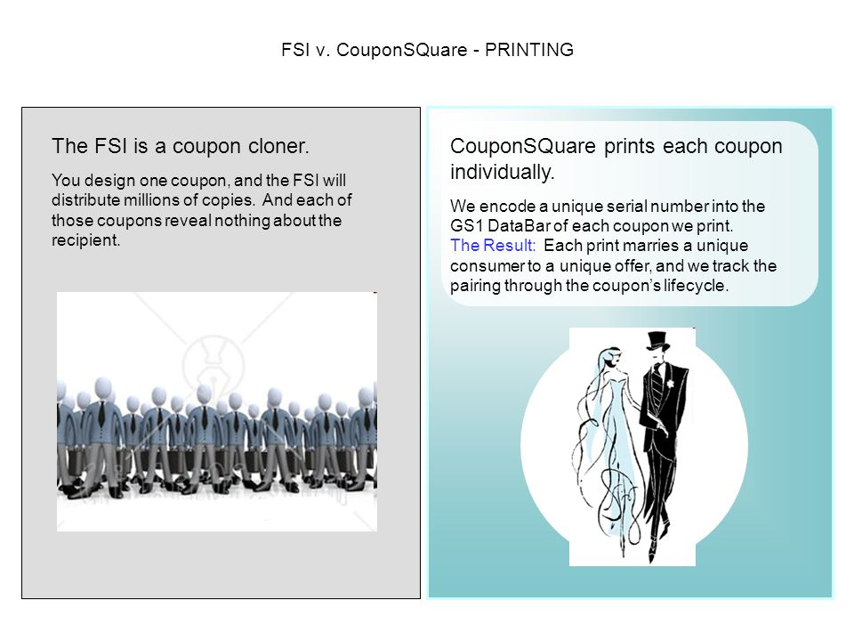 FSI v. CouponSQuare - PRINTING The FSI is a coupon cloner.