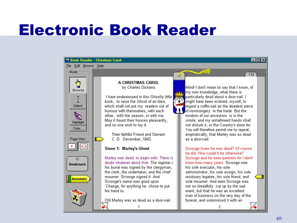 40 Electronic Book Reader