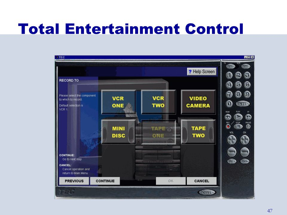 47 Total Entertainment Control