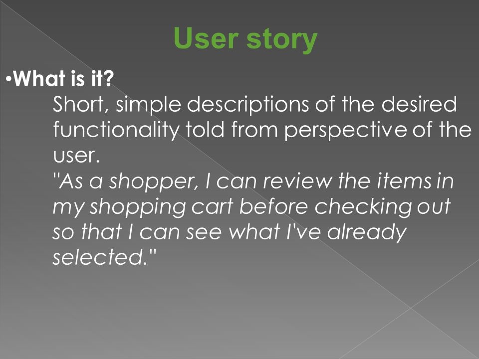 User story Does user stories replace requirements document?