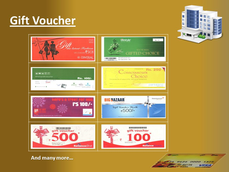 Gift Voucher And many more…