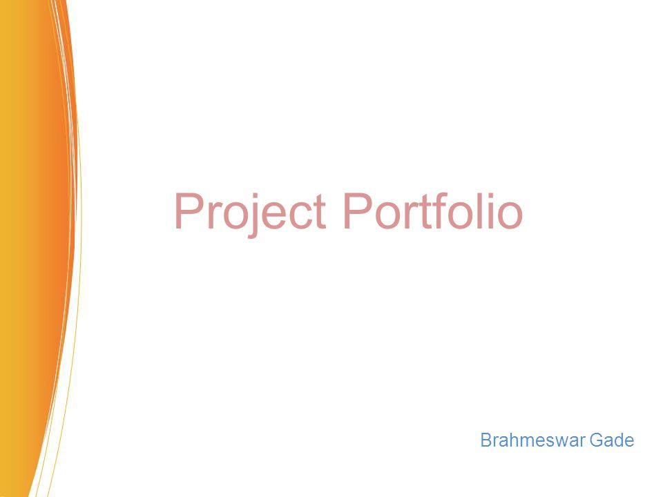 Project Portfolio Brahmeswar Gade