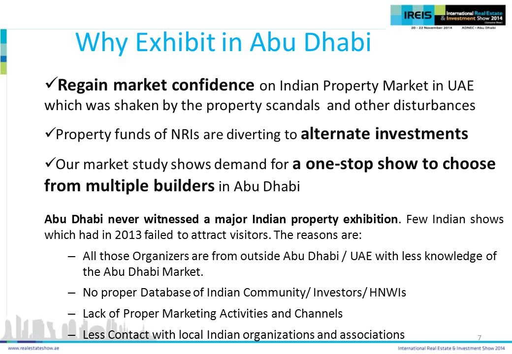 Abu Dhabi never witnessed a major Indian property exhibition.