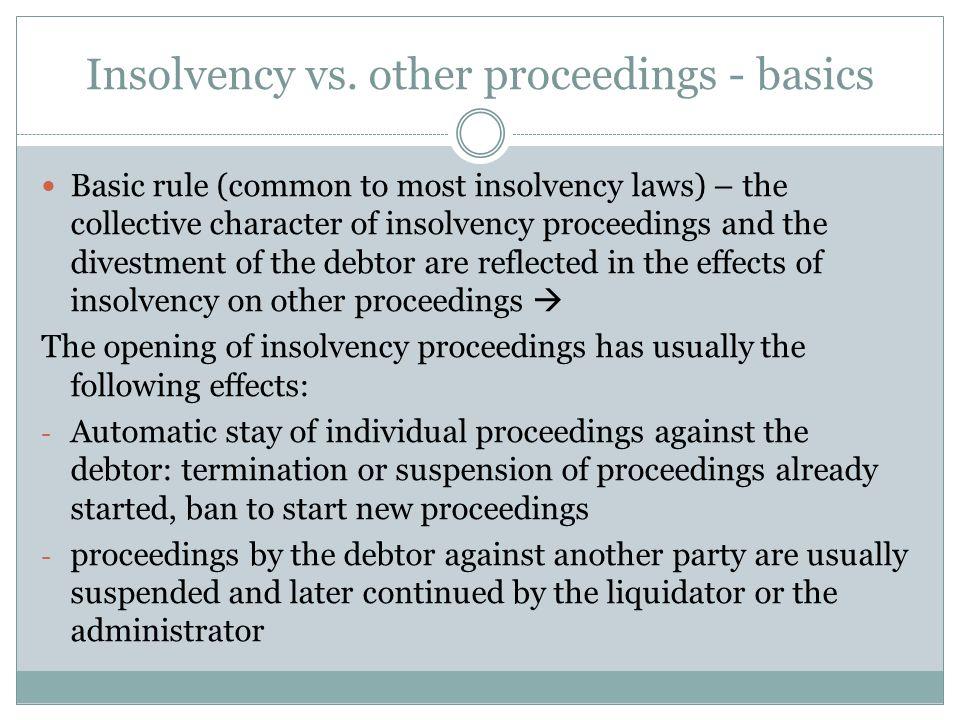 Insolvency vs.