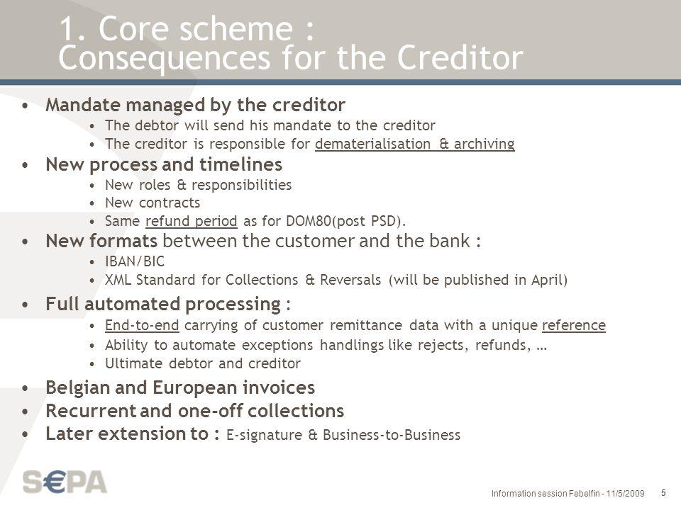 6 Information session Febelfin - 11/5/2009 1.