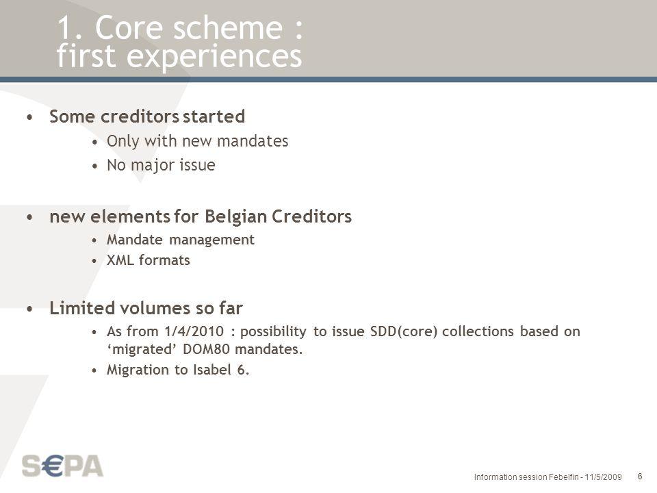 27 Information session Febelfin - 11/5/2009 1.