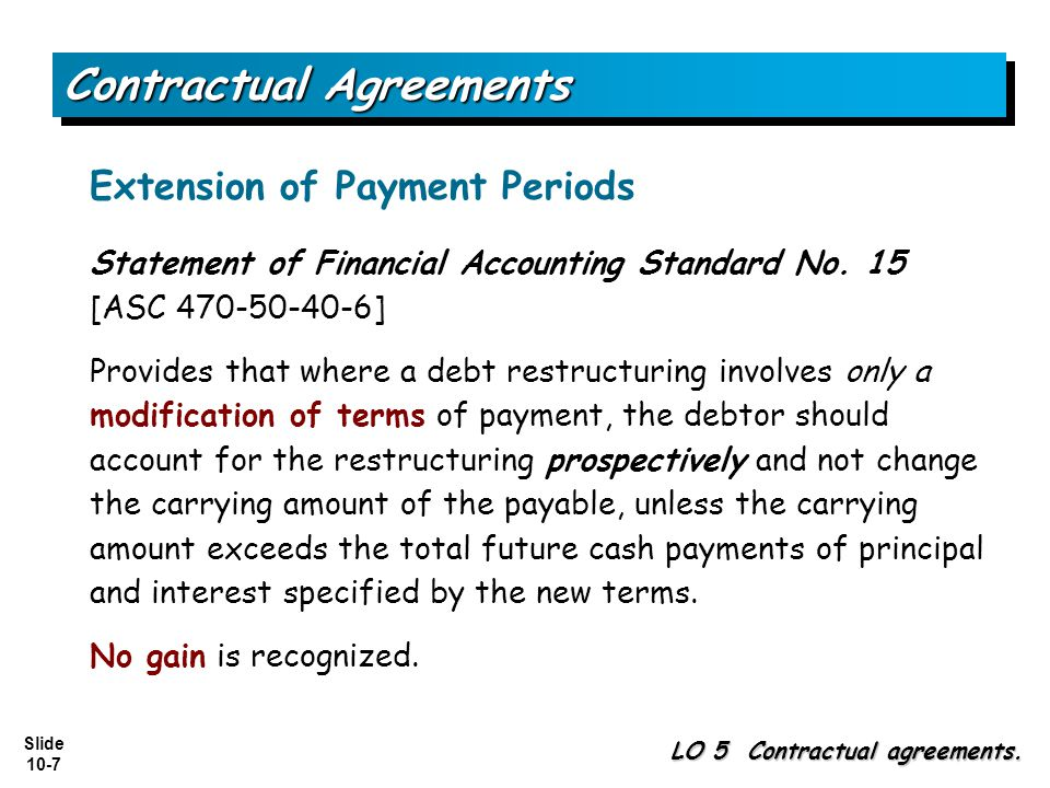 Slide 10-7 Contractual Agreements LO 5 Contractual agreements.