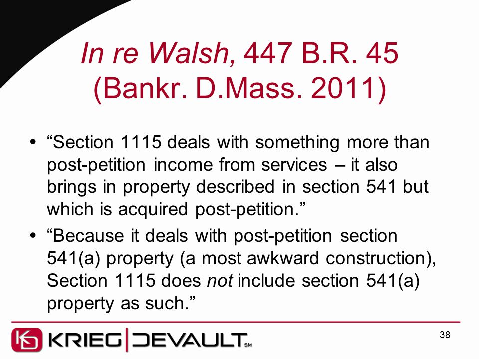 In re Walsh, 447 B.R. 45 (Bankr. D.Mass.