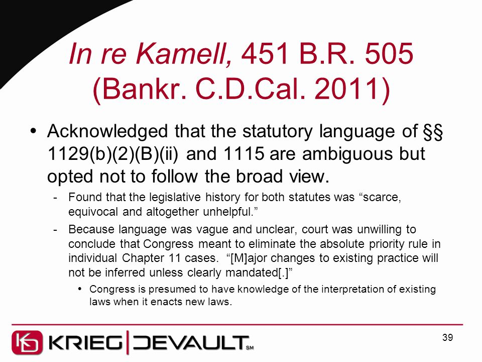 In re Kamell, 451 B.R. 505 (Bankr. C.D.Cal.