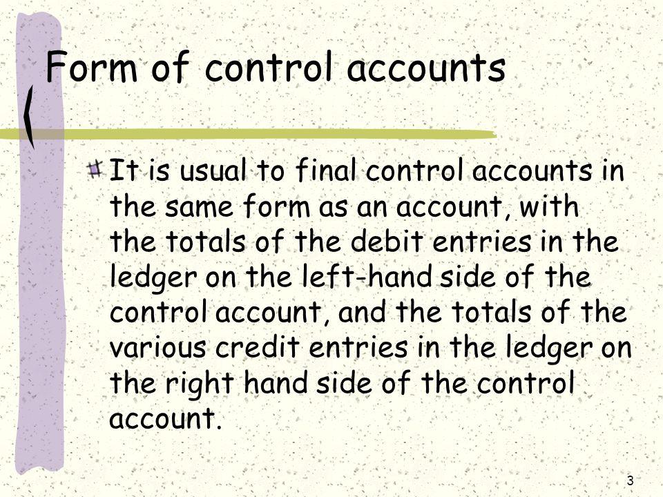 4 Sales ledger control account Sales ledger control account = Total debtors account