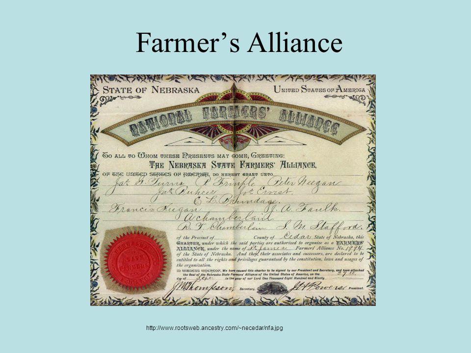 Farmer's Alliance http://www.rootsweb.ancestry.com/~necedar/nfa.jpg