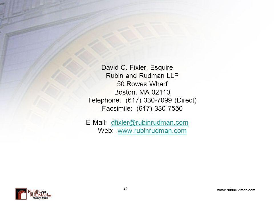 www.rubinrudman.com David C.