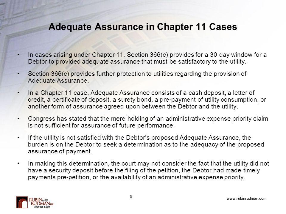 www.rubinrudman.com What Happens if Adequate Assurance is Not Provided.