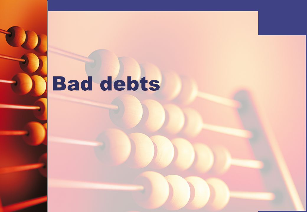 When a business sells to a customer on credit it takes a business risk that the customer might not pay the amount owed.