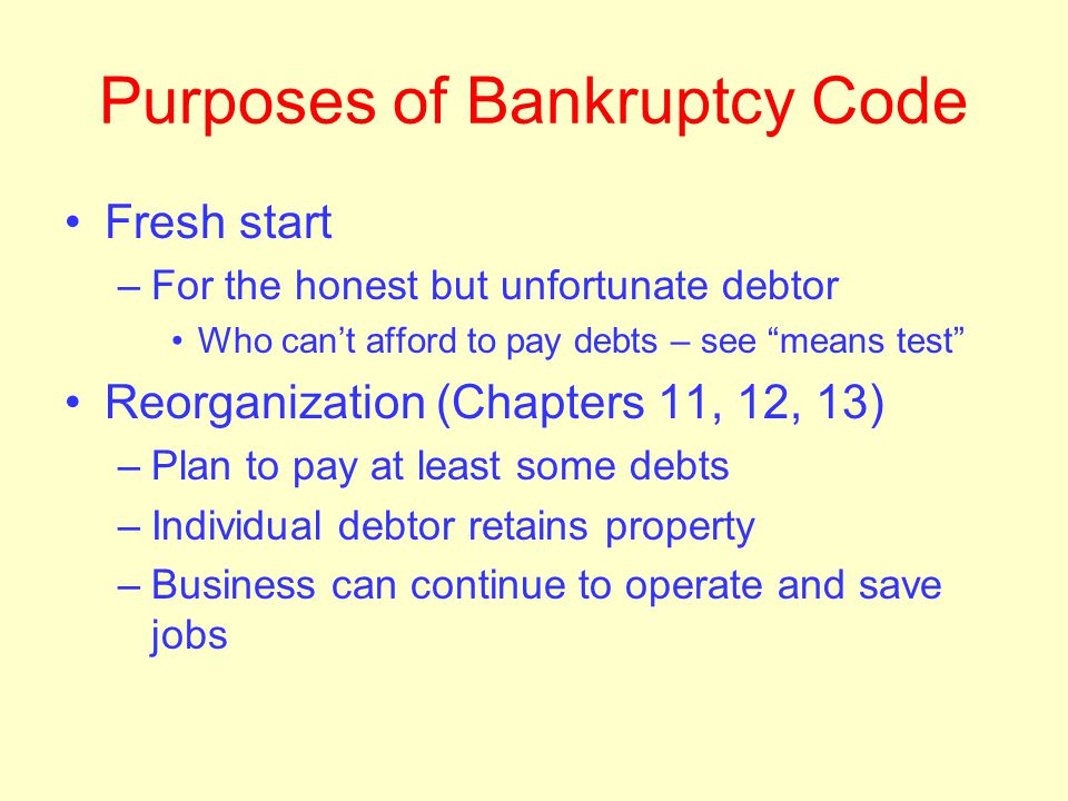 Slogan of the day Bankruptcy should be a last resort, but not a last minute decision