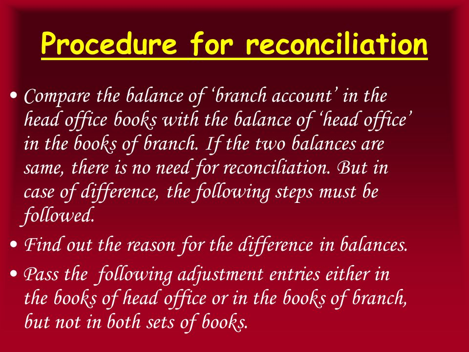Reasons for the difference If the adjustment entry is passed in the books of head office If the adjustment entry is passed in the books of branch (a) Goods in transit Goods in transit A/c Dr.