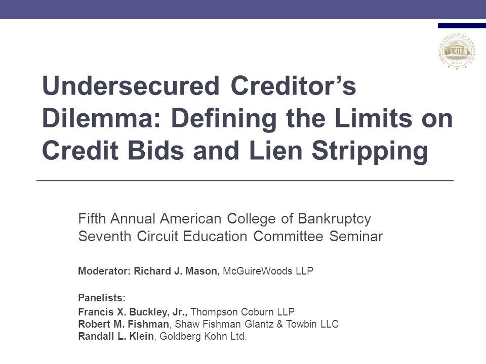 What is a Credit Bid .