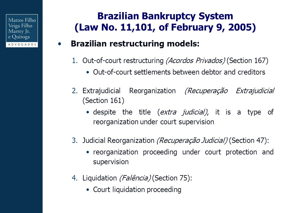 Brazilian Bankruptcy System (Law No.
