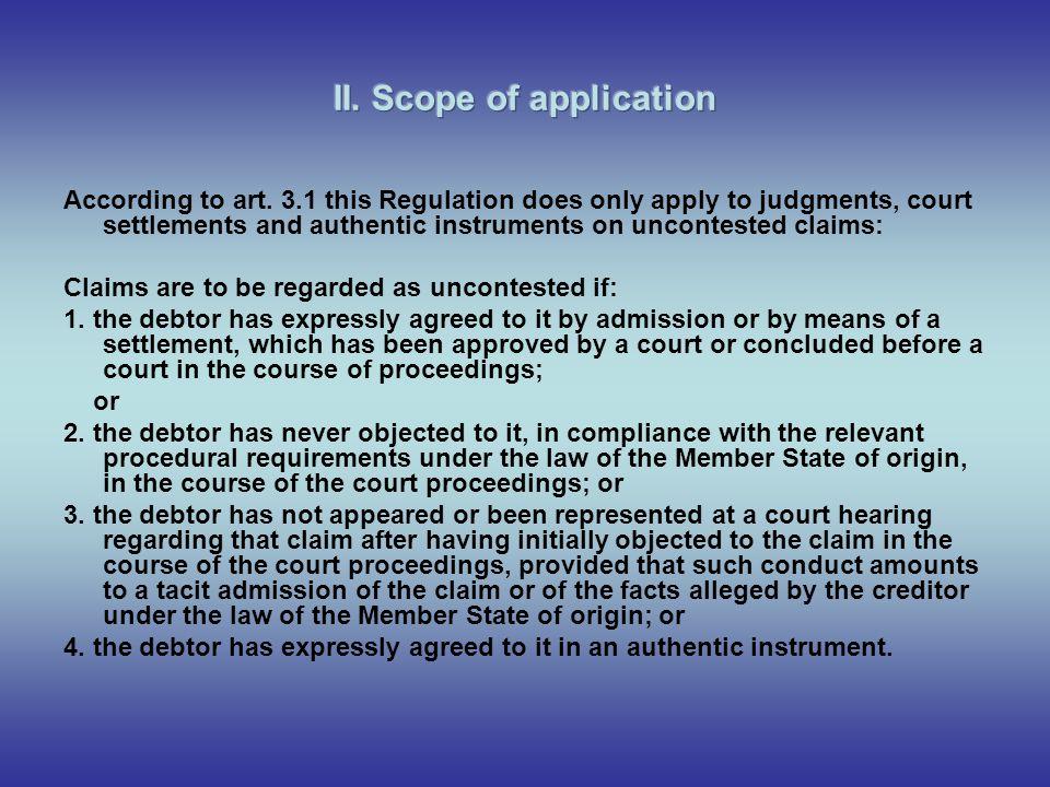 1.judgements concerning recognized claims (art.213 § 2 & art.