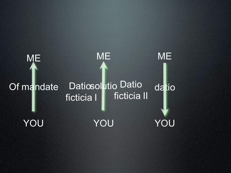 ME YOU Of mandate ME YOU solutio ME YOU datio Datio ficticia I Datio ficticia II