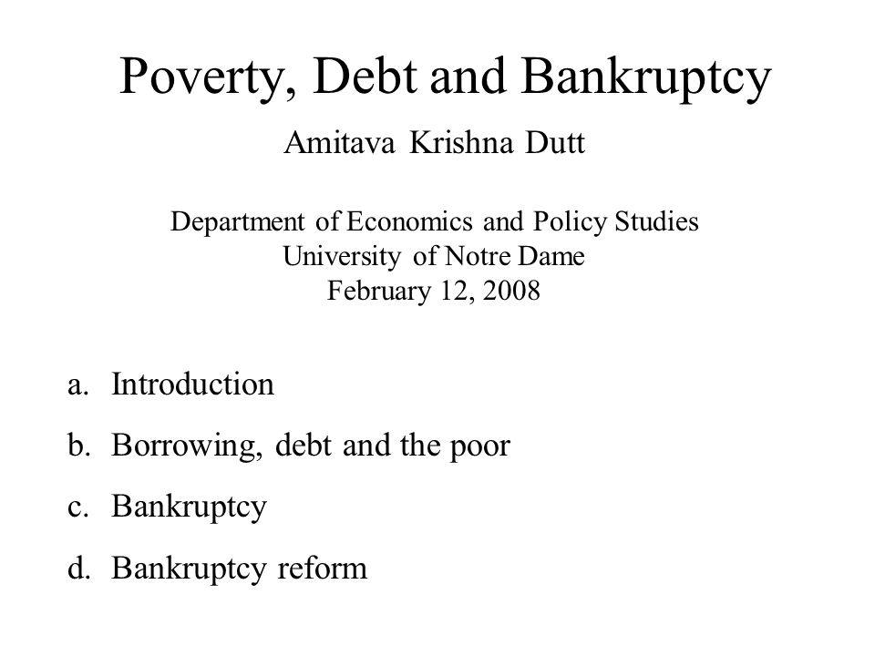 a.Introduction Why is there poverty. Why does poverty persist.