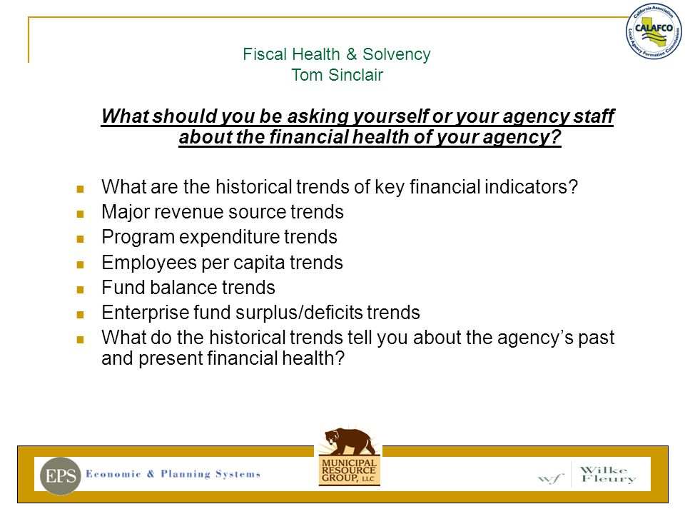 What should you be asking yourself or your agency staff about the financial health of your agency.